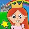 Princesa de cuento de hadas para colorear para los niños y las maravillas de la familia Ultimate Edition Preescolar (AppStore Link)