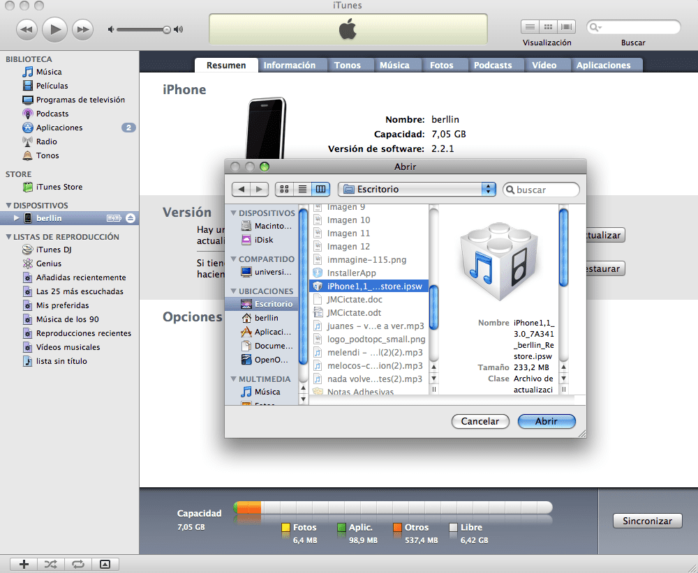 imagen 133 Tutorial: redsn0w 0.8 Jailbreak para el iPhone 2G, 3G, 3Gs, iPod Touch 1G y 2G