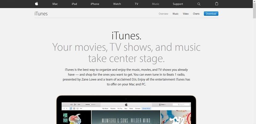 Web para descargar iTunes