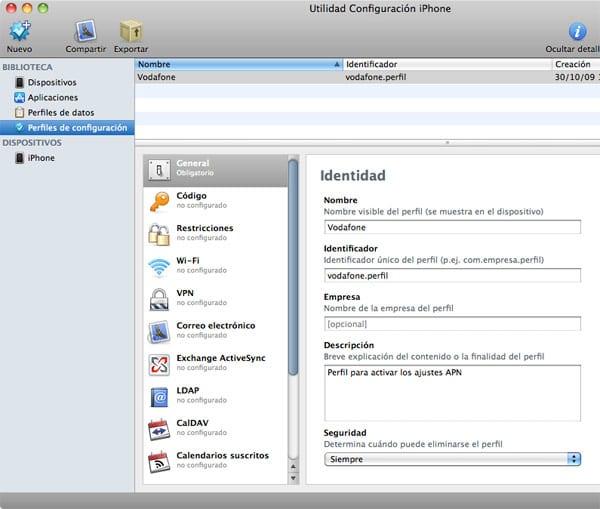 Configurar Datos Moviles Vodafone Iphone