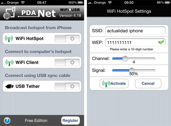 How to download pdanet on iphone