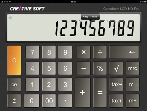 Calculator LCD HD Pro for iPad2 Aplicaciones de pago que están de oferta (13 de abril)