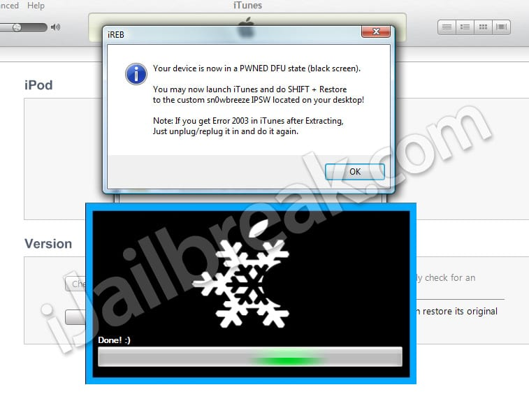 Tutorial: jailbreak untethered a iOS 4.3.1 con Sn0wbreeze (Windows) (Custom Firmware)