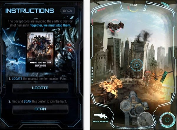 Transformers poster interactivo