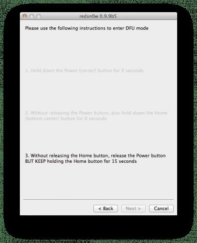 60226 500 Tutorial: jailbreak tethered a iOS 5.0.1 con Redsn0w (Mac y windows)