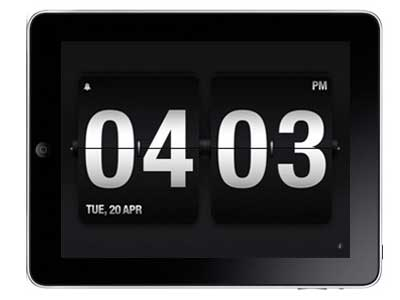 Selección de aplicaciones de reloj y alarma para el iPad