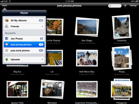 Web albums for ipad