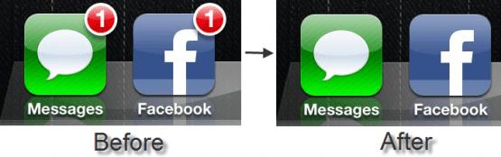 BadgeRemover: quita los círculos de notificación de las aplicaciones (Cydia)