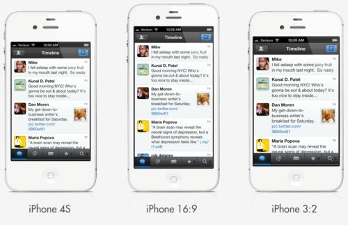 Concepto de iPhone con pantalla 16:9