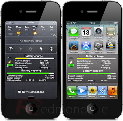 BatteryInfo para iPhone