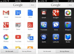 Búsqueda de Google para iPhone