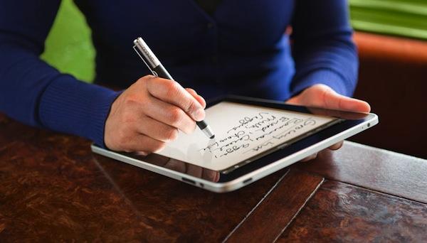 Tomar notas con el iPad