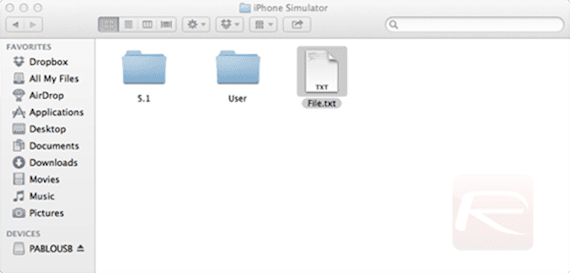 TextFile en iPhone_simulator