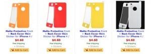 Protectores de colore para iPhone