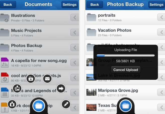 Screen Shot 2012 09 30 at 11.57.19 AM MediaFire ya está disponible en la App Store con 50 GB de almacenamiento