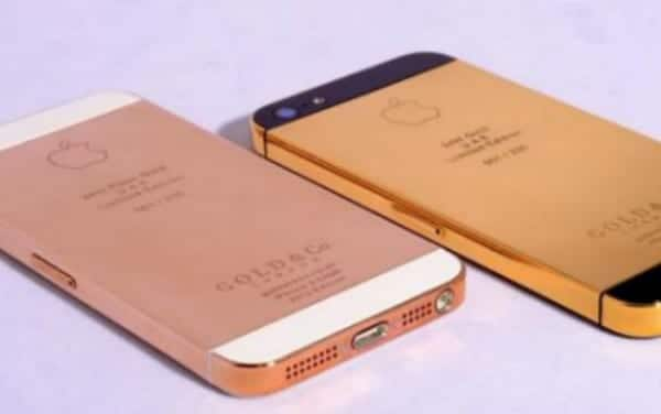 Un iPhone 5 de oro