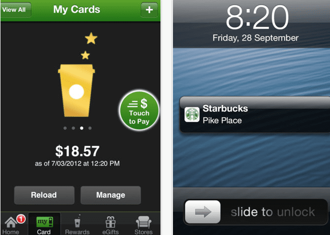 Screen Shot 2012 10 04 at 6.57.27 PM Starbucks ya ofrece soporte en Passbook