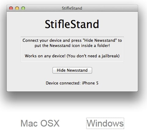 StifleStand win StifleStand ya disponible para Windows (ocultar Quiosco)