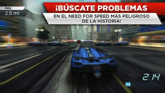 EA lanza Need For Speed: Most Wanted para iPhone