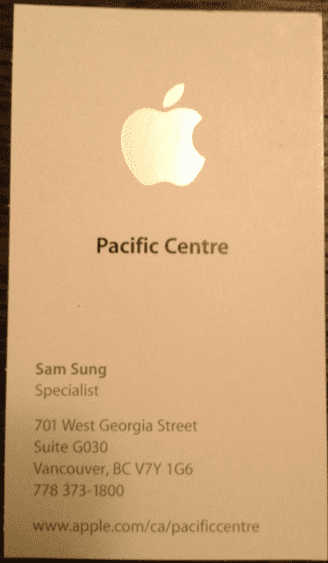 Screen Shot 2012 11 19 at 12.44.18 PM Mr. Sam Sung, un empleado de Apple con un nombre muy peculiar