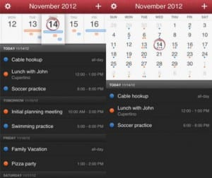 App calendario Fantastical para iOS