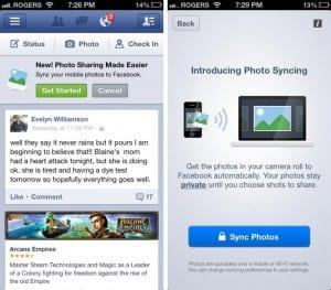 Facebook habilita la sincronización automática para todos