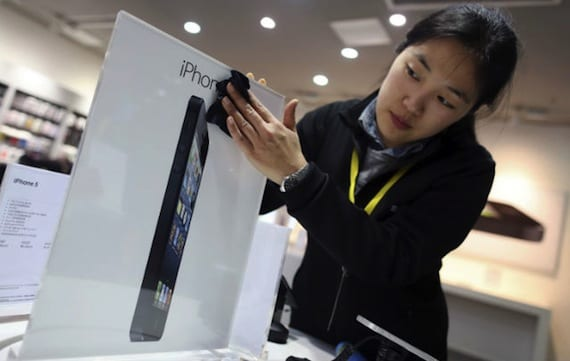 iphone 5 china2 Apple vende 2 millones de iPhone 5 en el primer fin de semana en China