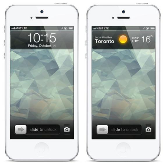 Concepto de Lockscreen para el iPhone