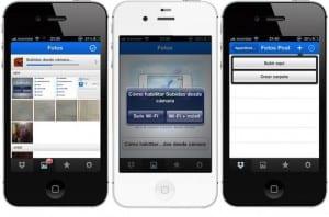 Aplicación Dropbox para iPhone