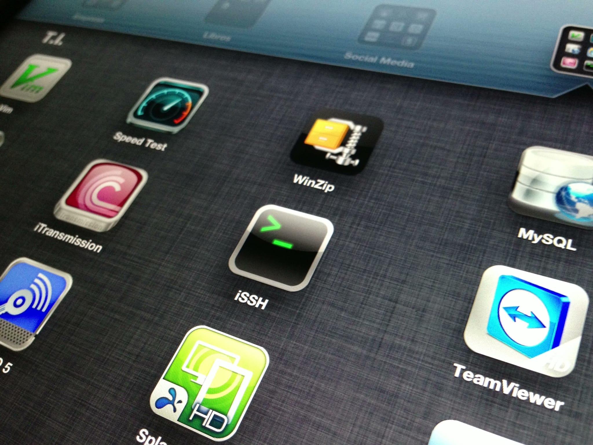 Aplicaciones de iPad para informáticos
