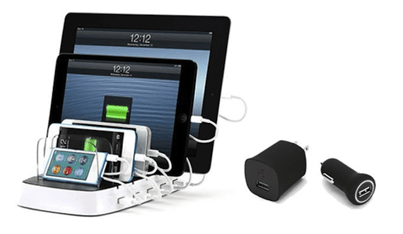 PowerDock 5 Griffin PowerDock 5 permite cargar hasta cinco dispositivos iOS a la vez