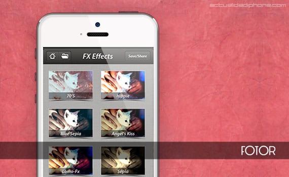 App para retocar fotografías