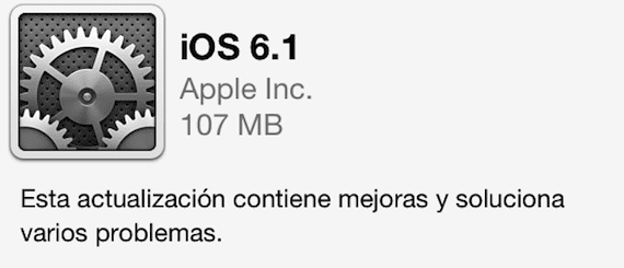 ios 6.1 Apple lanza la versión final de iOS 6.1 (actualizado con links DD)