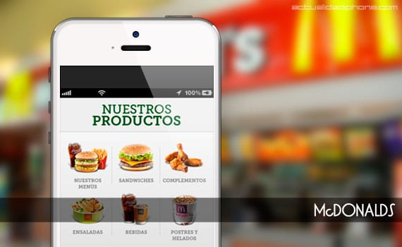 App de McDonalds para iPhone