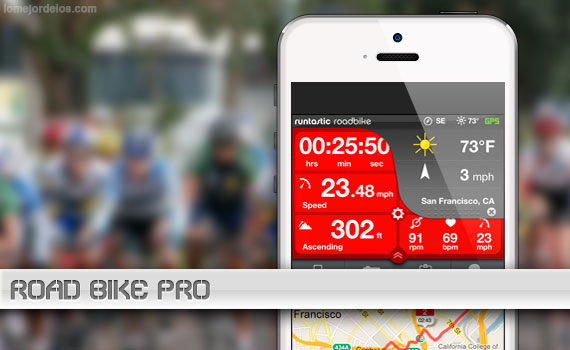 Aplicación ideal para ciclistas