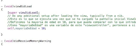 Funcion didload de xcode