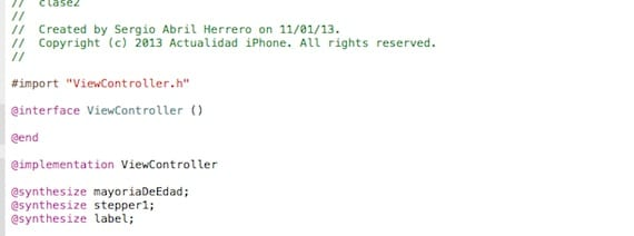 Implementacion de variables en xcode