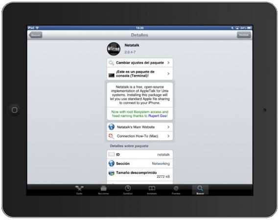 Nettalk, iPad desde OS X