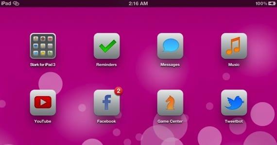 Tema Stark para iPad Retina. Original de Deviantart