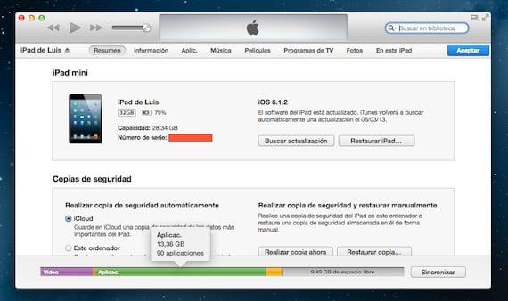 iTunes-Almacenamiento