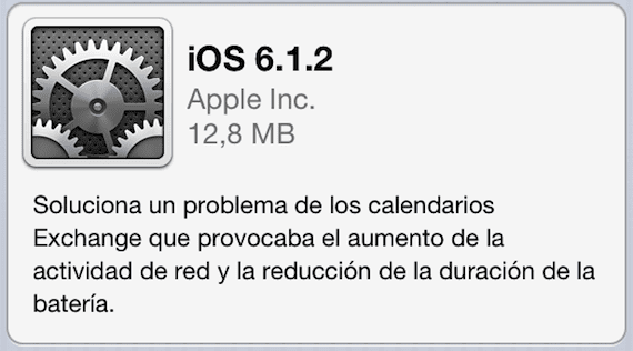 ios 6.1.2 Apple lanza iOS 6.1.2 para solucionar el bug de Exchange