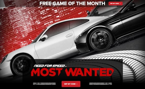 most wanted gratis Promoción temporal para descargar Need For Speed: Most Wanted gratis