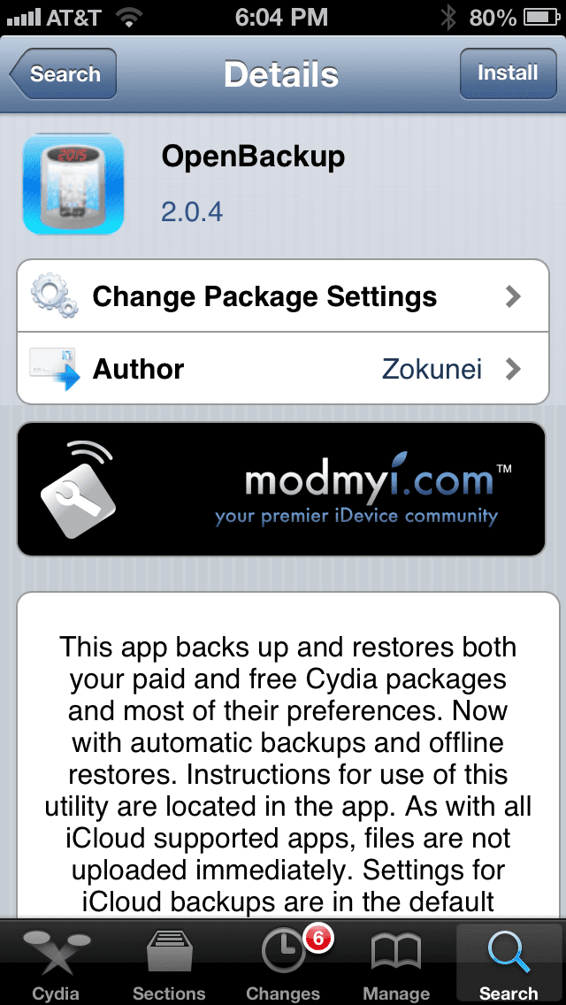 photo Cómo guardar tus tweaks antes de actualizar a iOS 6.1.2