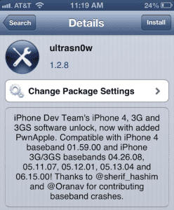 Ultrasn0w ios 6
