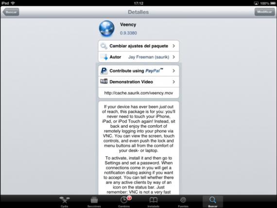 Veency en el iPad