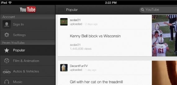 youtube La aplicación de Youtube se actualiza para iPhone y iPad