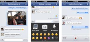 Capturas de la aplicación Facebook Messenger