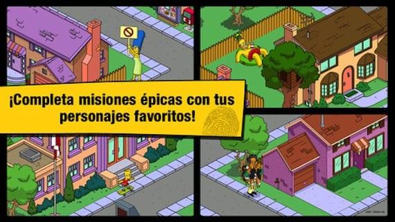 Capturas de pantalla de los Simpsons