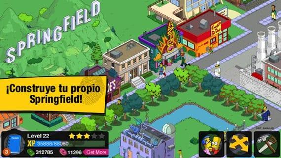 Juego de los Simpsons para iPhone