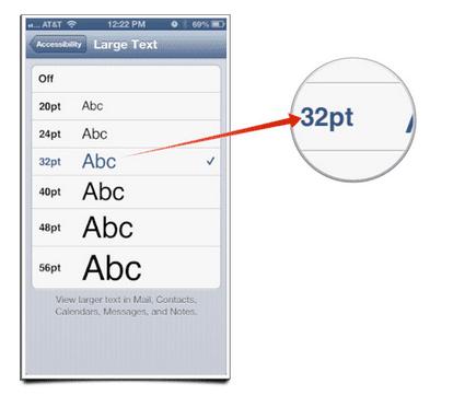Alargar texto en iOS
